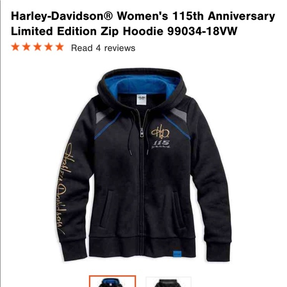 Harley-Davidson Women/'s NWT 115th Anniversary Hooded Sweatshirt 99034-18VW